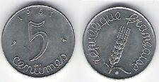 """Pièce de monnaie de """"France"""" 5 centimes (1961)"""