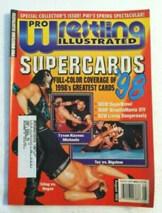 Pro Wrestling Illustrated Magazine August 1998 Supercards '98 Used VGC