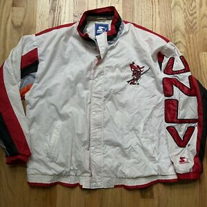Mens Vintage 90s Starter UNLV Runnin Rebels Windbreaker Color Block Jacket Sz XL