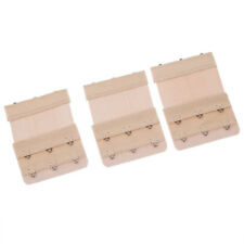 Intimo Donna 3 file Ganci elastico Strap Bra Extender Beige 3 pezzi V7L2