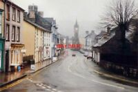 PHOTO  POWYS HEOL PENRALLT MACHYNLLETH IN 1987 LOOKING DOWN THE ROAD TO THE CLOC