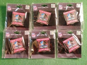 LOT (6) CLASS OF 2009 NFL PRO FOOTBALL HALL OF FAME LAPEL PINS WOODSON HAYES