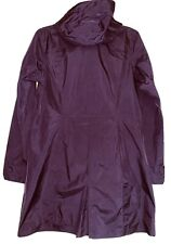 Patagonia Women's Trench Coat Long Rain Jacket Hooded Leightweight Size Medium