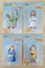 Bible Toys PVC Figurine Lot of 4 - Jesus Mary Moses David - Complete NEW