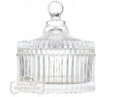 Decorative Fluted Glass Trinket/Storage Vintage Inspired Jar