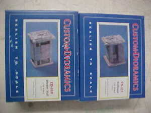 1/35 Scale Custom Dioramics Outhouse & Shower CD-330 & CD-331