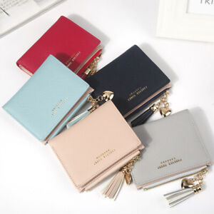 Women Wallet Short Small Coin Purse Ladies Folding Card Card Holder Leather
