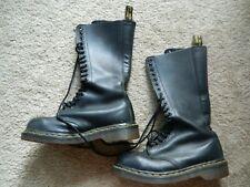 Dr. Martens 1B60 Boots 20-Eye Lace Zip Up Womens 6 Black AirWair Combat Doc