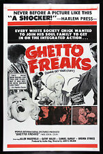 GHETTO FREAKS * CineMasterpieces BLAXPLOITATION BLACK AFRO MOVIE POSTER 1972