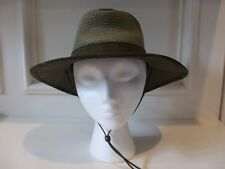 Canvas Olive Green Hat Straw Crown Size S Outback Henschel Hat Co Leather Cord