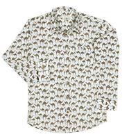 Men's Camel Printed Cotton Shirt Classic collar Formal Casual Long sleeve Indian