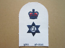 Caterer (Unbound & Crown) Royal Navy Trade Branch Woven Cloth Patch Badge