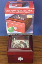 Holiday Train Animated Wind Up Music Box - We Wish You A Merry Christmas 2006