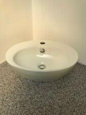 ** CRAZY PRICE ** Small White Ceramic Oval Countertop Basin - slight fault