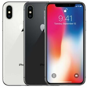 Apple iPhone X - 64GB - Silver Gray (Unlocked) Verizon T-mobile AT&T A Excellent