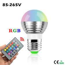 16 Colors RGB Decor Christmas LED Light E27 5W 110V - 220V + Remote