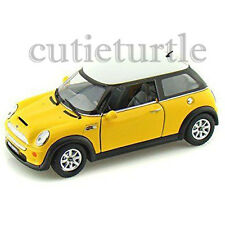 Kinsmart Mini Cooper S 1:28 Diecast Toy Car Yellow