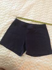 STONEWEAR DESIGNS MD Faded Navy blue 100% cotton Yoga shorts made in the usa S:M