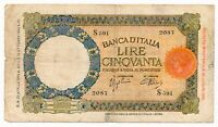 ITALY banknote 50 Lire 29.4.1940 VF Very Fine condition