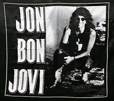 VINTAGE JON BON JOVI SLIPPERY WHEN WET BANNER FLAG NEW JERSEY NOS 1990 NIKRY HTF