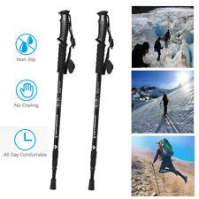Anti-shock Walking Hiking Sticks 3 Section Adjustable Retractable Trekking Pole