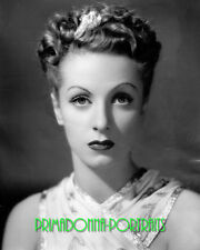 DANIELLE DARRIEUX 8x10 Lab Photo '40s Mysterious Sexy Sultry Movie Star Portrait
