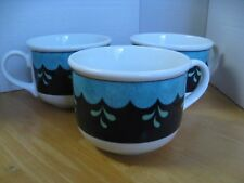 """LENOX CHINA CASUAL IMAGES BEDAZZLE - TURQUOISE SET OF 3 FLAT 2-3/4"""" CUPS"""