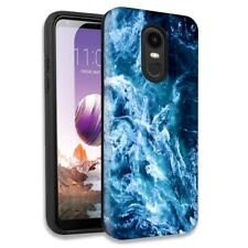 Blue Ocean Waves Double Layer Hybrid Case For LG Aristo 2/2 Plus/Risio 3
