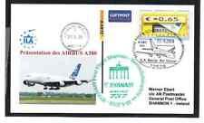 GANZSACHE ATM RYANAIR ERSTFLUG BERLIN - SHANNON IRLAND AIRBUS A380 2008
