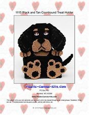 Black and Tan Coonhound Dog Treat Holder- Plastic Canvas Pattern or Kit
