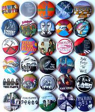 PINK FLOYD Button Badges Pins Wish You Were Here Animals More Ummagumma Lot 30