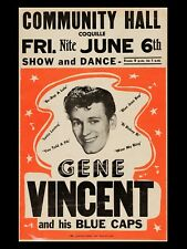 gene vincent coquille 16x12 Repro Concert Poster