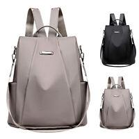 Women Oxford Cloth Waterproof Travel Backpack Nylon Anti-theft Shoulder Rucksack