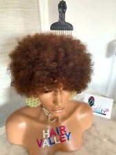 Lace Wig Glueless 🌈100% INDIAN HAIR With BANG💎 AFRO HAIRSTYLE ALOPECIA WIGS