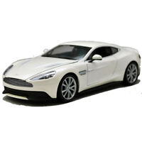 Welly 1:24 Aston Martin Vanquish White Diecast Model Sports Racing Car Toy BOXED