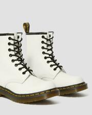 Womens Dr. Martens 1460 8 Eye Leather Lace Up Boots White Size 14