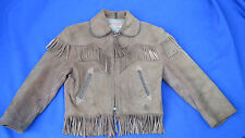 Vintage Roy Rogers Child's Fringed Swade  Leather Jacket 1950's