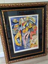 "Alexandra Nechita ""Winning Together"" Signed Framed Original Lithograph CoA"
