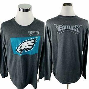 Philadelphia Eagles NFL Team Apparel Gray T-Shirt Men's XL X-Large