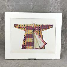 Antique Costume Print Tashkent Overcoat Traditional Turkestan Dress Coat