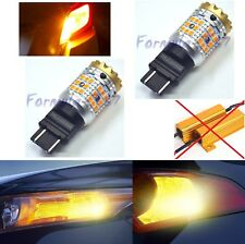 Canbus Error Free LED Light 3157 Amber Two Bulbs Rear Turn Signal Upgrade Lamp
