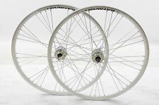 "DISC WHEELS 26"" MTB  9 X 4 HUB WHITE AIRLINE DOUBLE WALL RIMS MULTI SPEED Q/R"