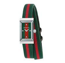 Gucci YA147503 G-Frame Quartz Stripe Strap Women's Watch