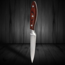 3.5 Inch Damascus Stainless Steel Fruit Knife Chef Kitchen Knives Wooden Handle