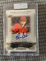 2019-20 UD Clear Cut - ANDREI SVECHNIKOV Auto Embedded Endorsements #46/99