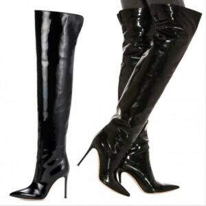 Sexy Women's Stilettos High Heel Over The Knee Thigh Boots Pointy Toe Clubwear L