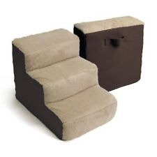Pet 3 Steps Stairs Animal Dog Cat Puppy Home Decor Brown Tan Lightweight New