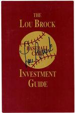 LOU BROCK AUTHENTIC AUTOGRAPHED SIGNED 5.5X8.5 GUIDE ST. LOUIS CARDINALS 106132