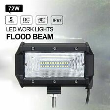 72W LED Work Flood Square Spot Light 12V 24V Off Road Truck Car Boat SUV Lamps