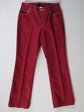 "Ann Taylor Loft Classic Fit Boot Cut Red Stretch Denim Jeans 4P X 28"" MSRP $89"